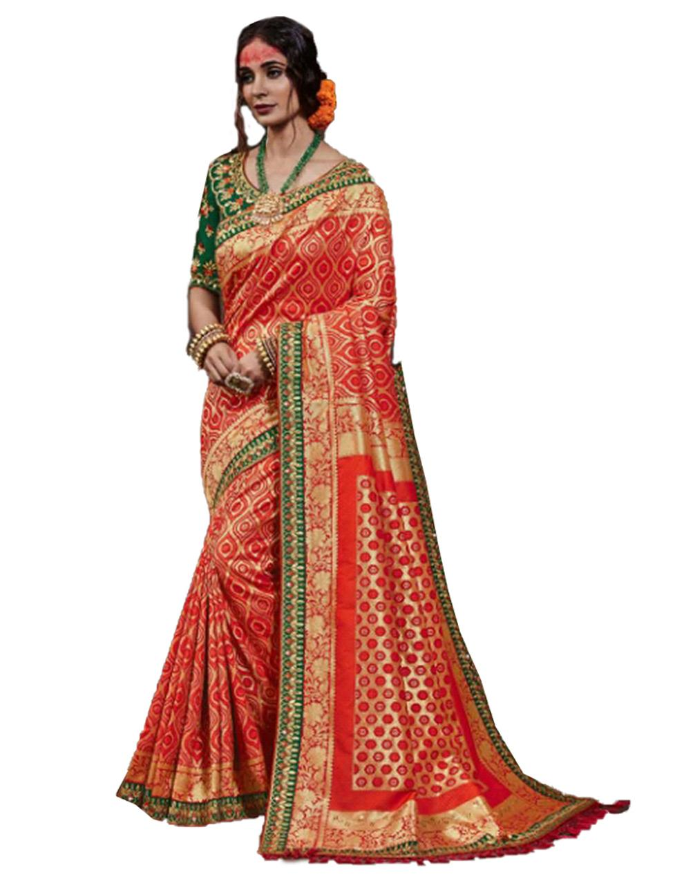 Red Silk Saree With Blouse SD23892