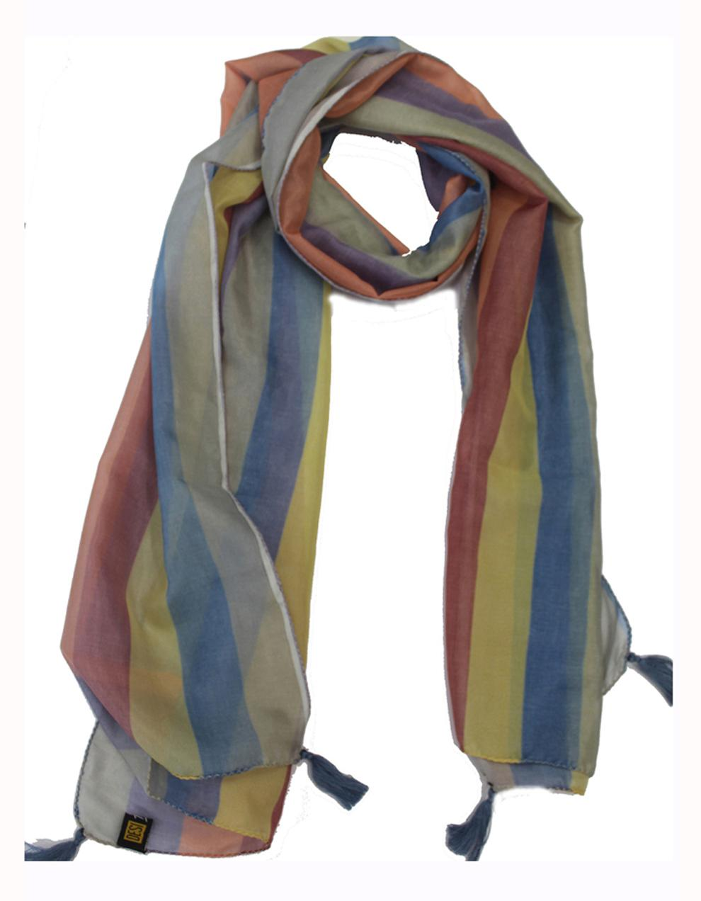 Multicolor Modal Satin Printed Scarf SC20