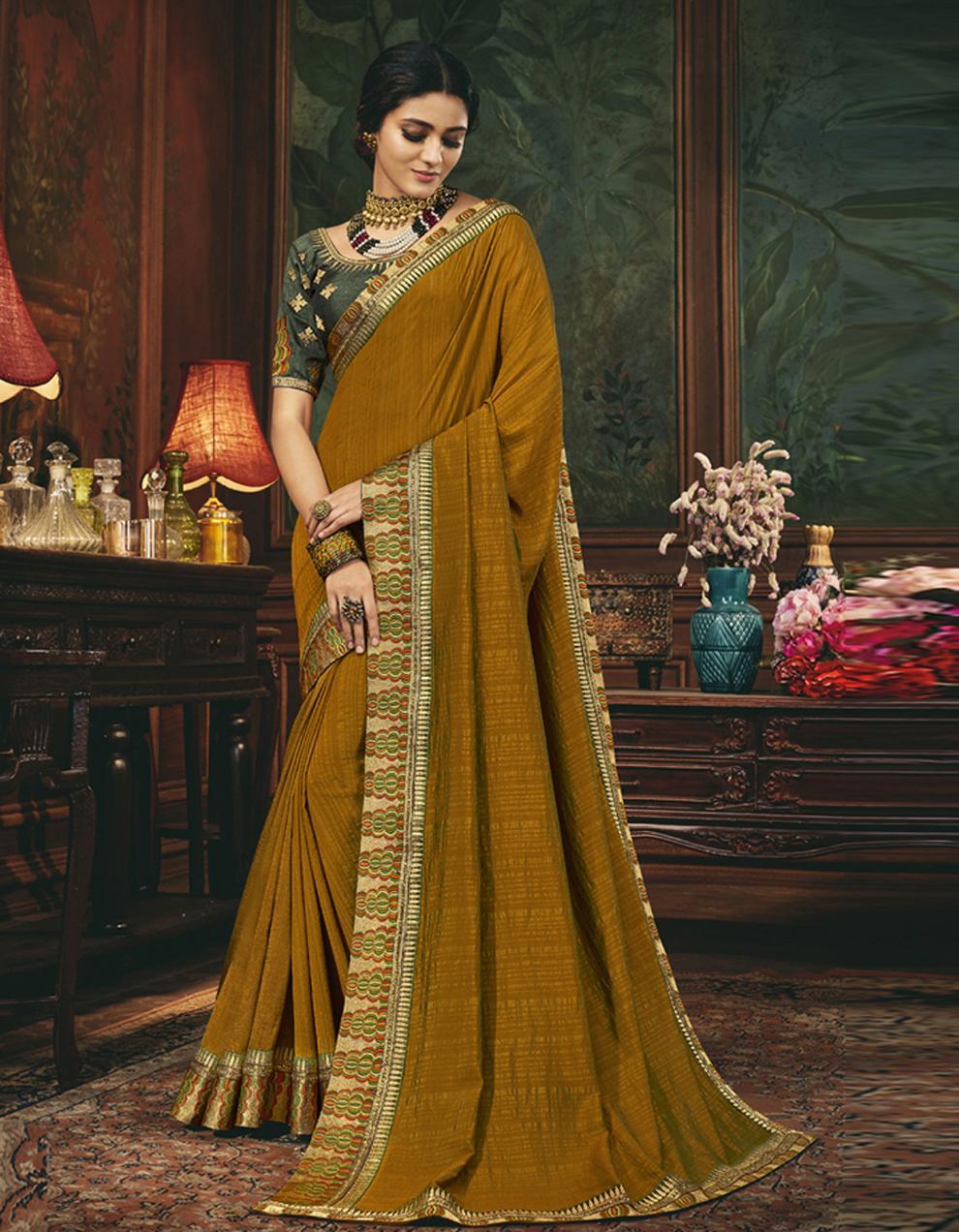 Yellow Silk Saree With Blouse SD24068