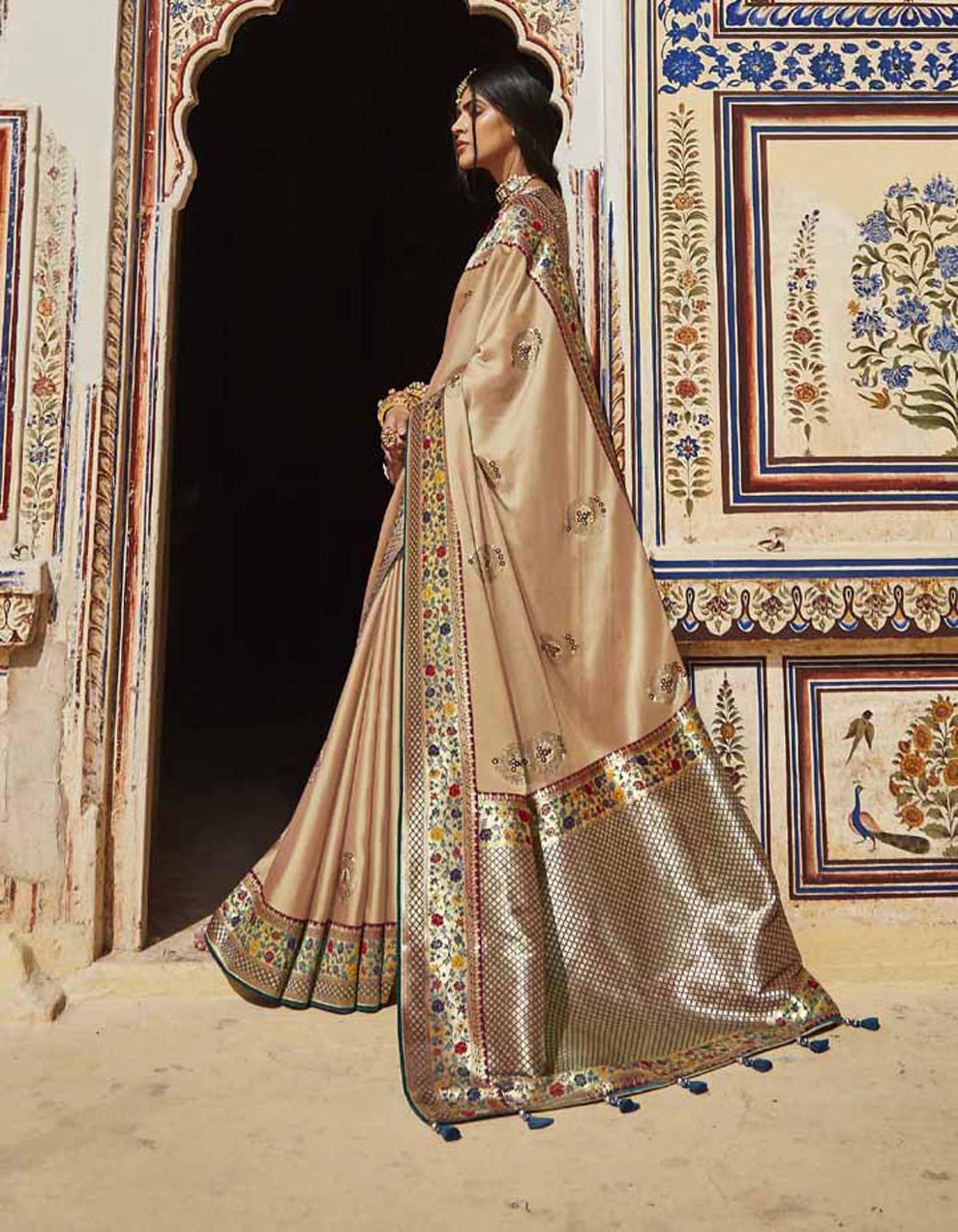 Multicolor Silk Saree With Blouse SD25147