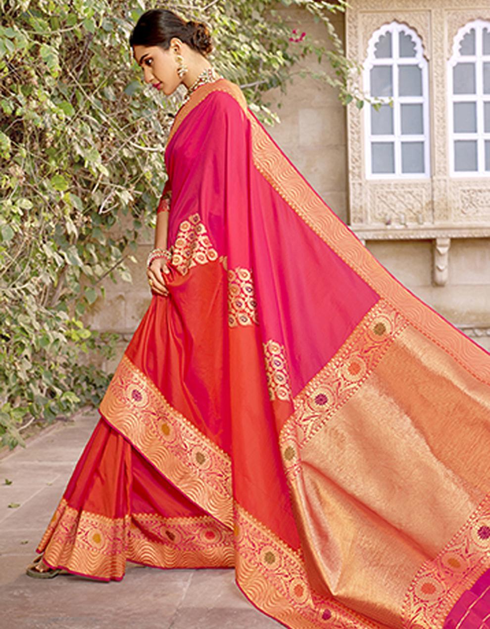 pink Silk Saree With Blouse SD23788
