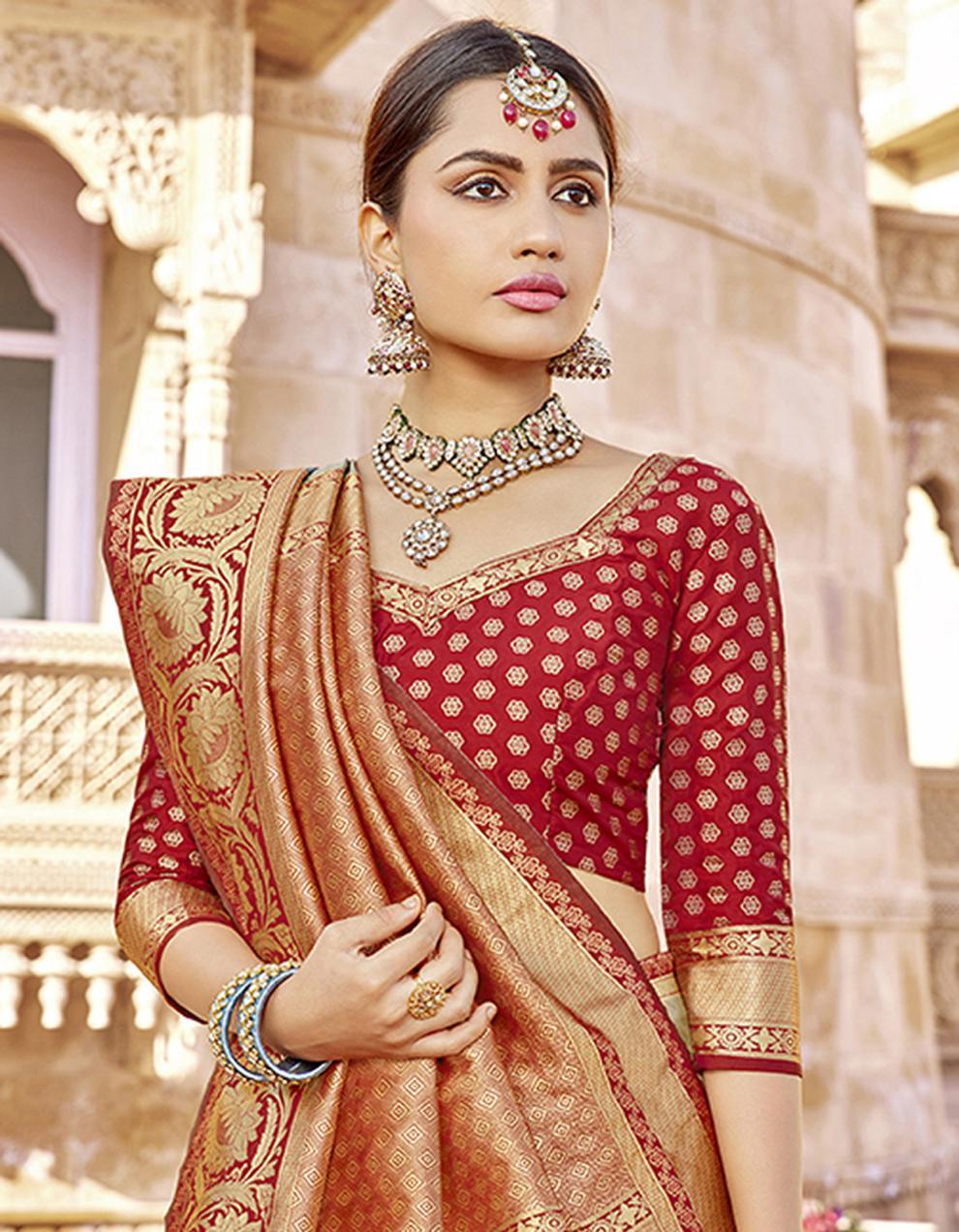 Multicolor Silk Saree With Blouse SD23790