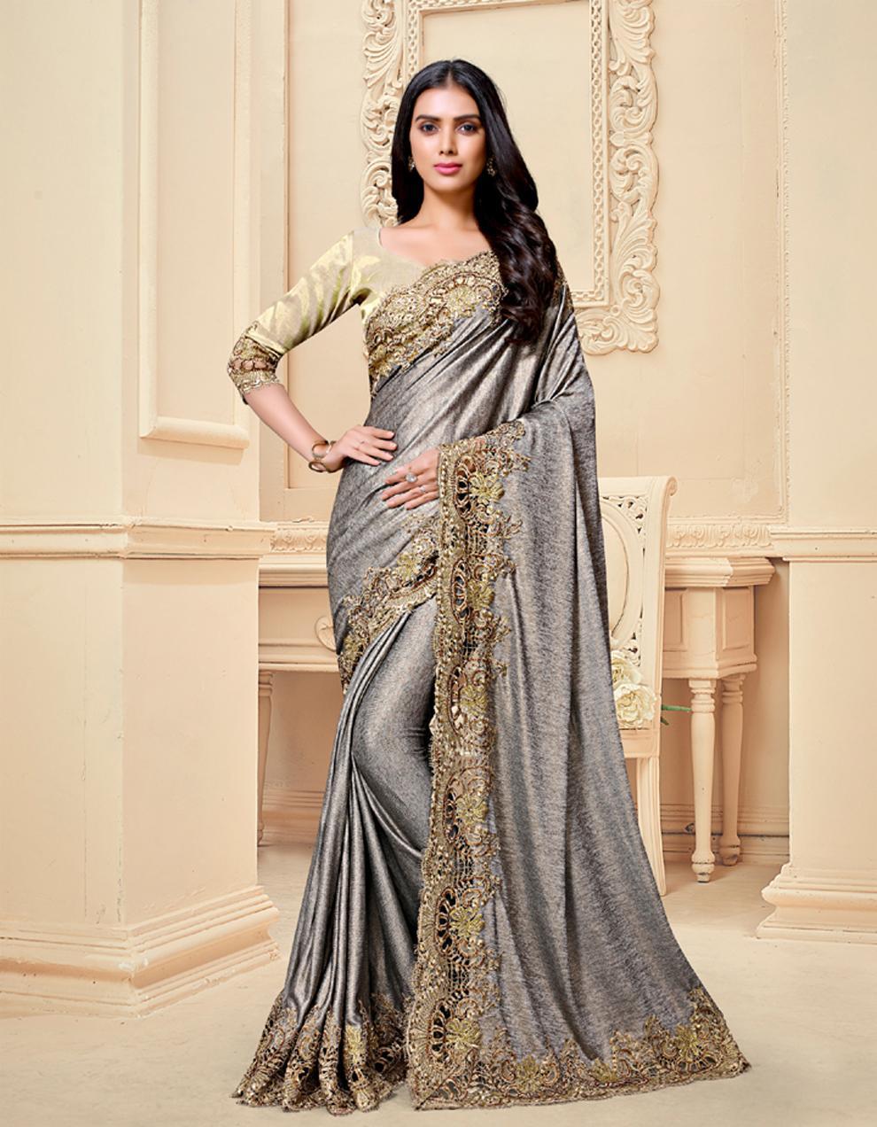 Brown Silk Saree With Blouse SD25172