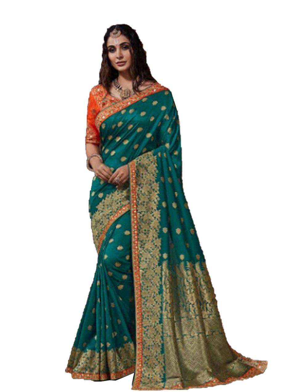 Morpeach Silk Saree With Blouse SD23891