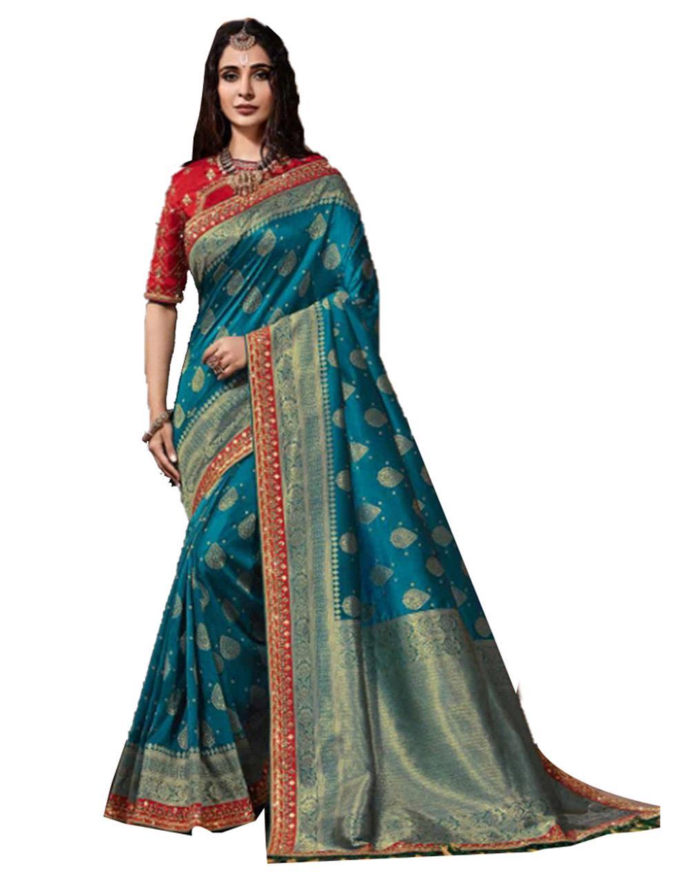 Morpeach Silk Saree With Blouse SD23888