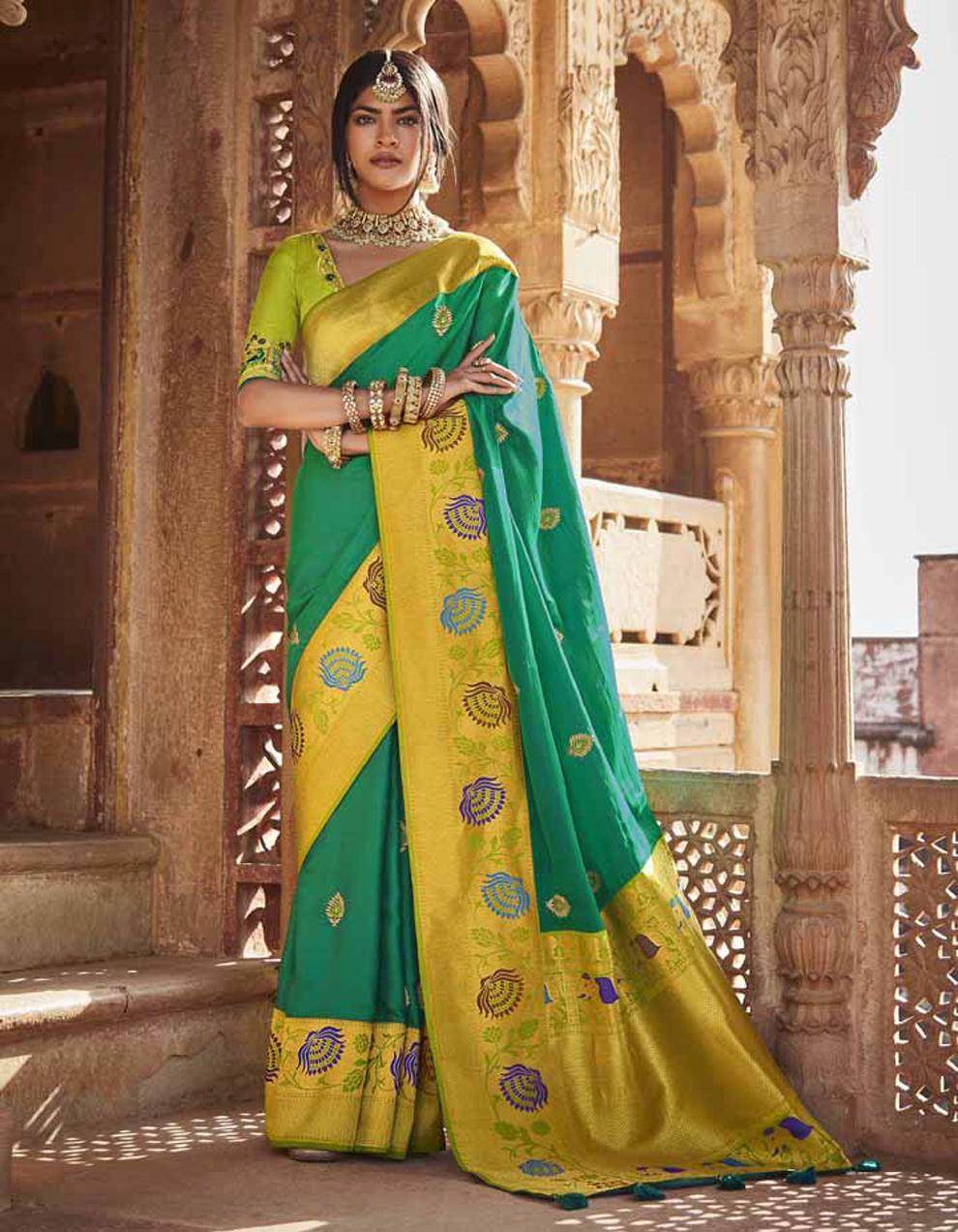 Multicolor Silk Saree With Blouse SD25142