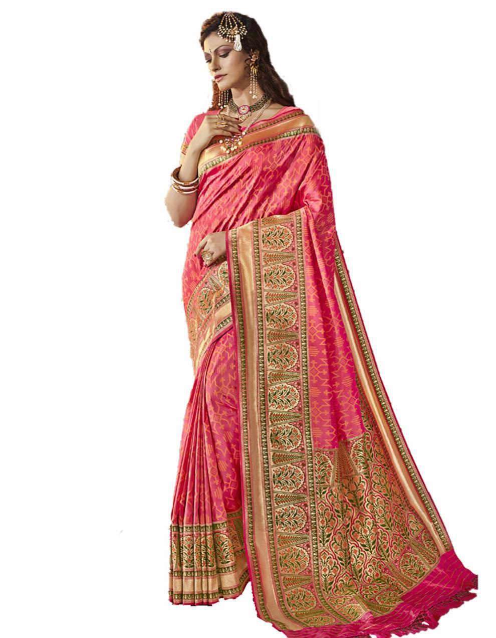 Light pink Silk Saree With Blouse SD23840