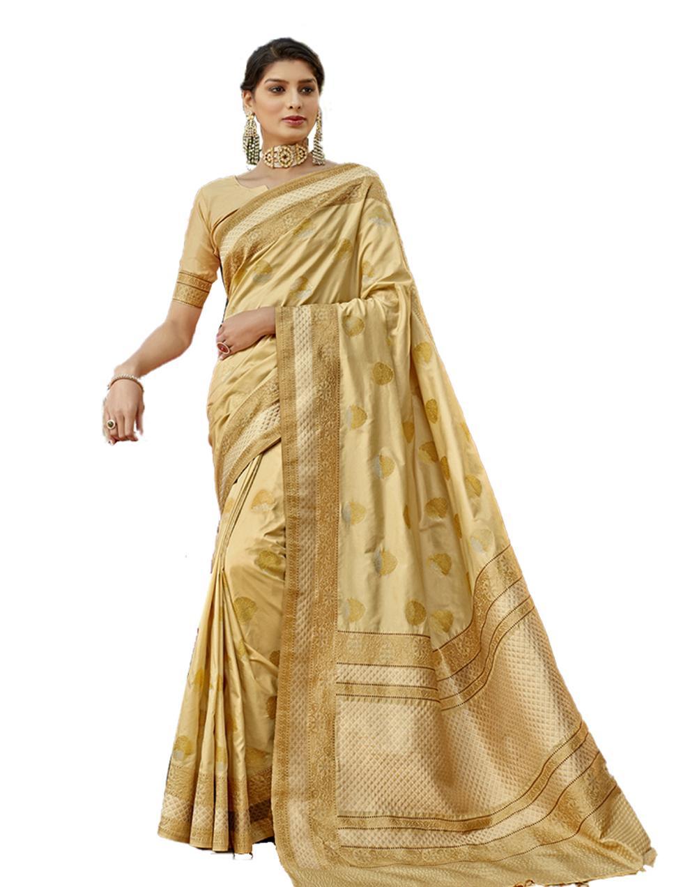Multicolor Lichi Silk Saree With Blouse SD24114