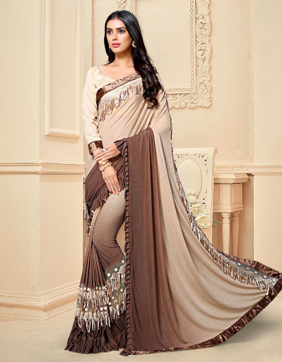 Multicolor Silk Saree With Blouse SD25171