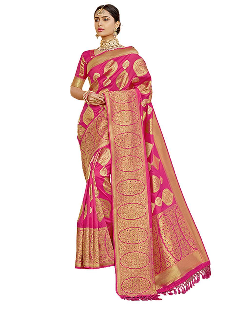 Pink Silk Saree With Blouse SD23791