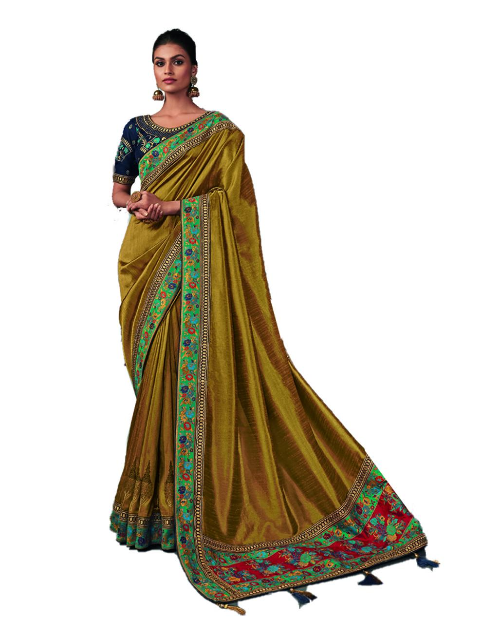 Multicolor Silk Saree With Blouse SD24195