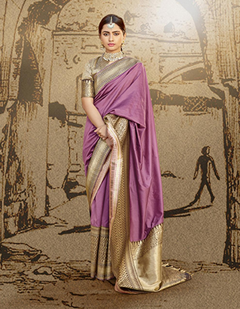 Multicolor Silk Saree With Blouse SD23794