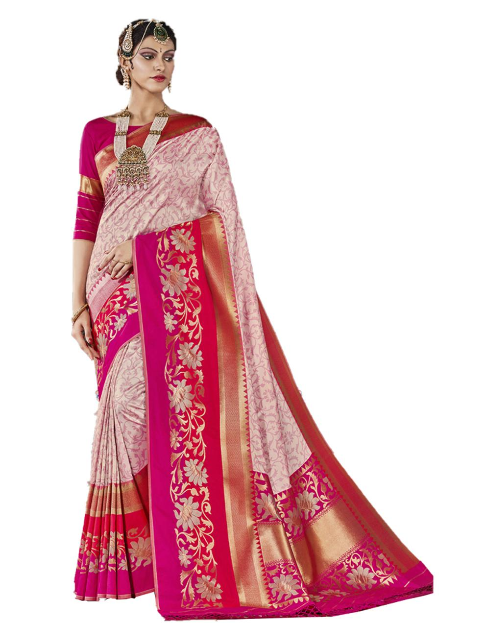 Multicolor Silk Saree With Blouse SD23838