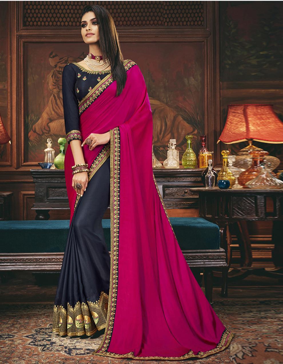 Multicolor Silk Saree With Blouse SD24063