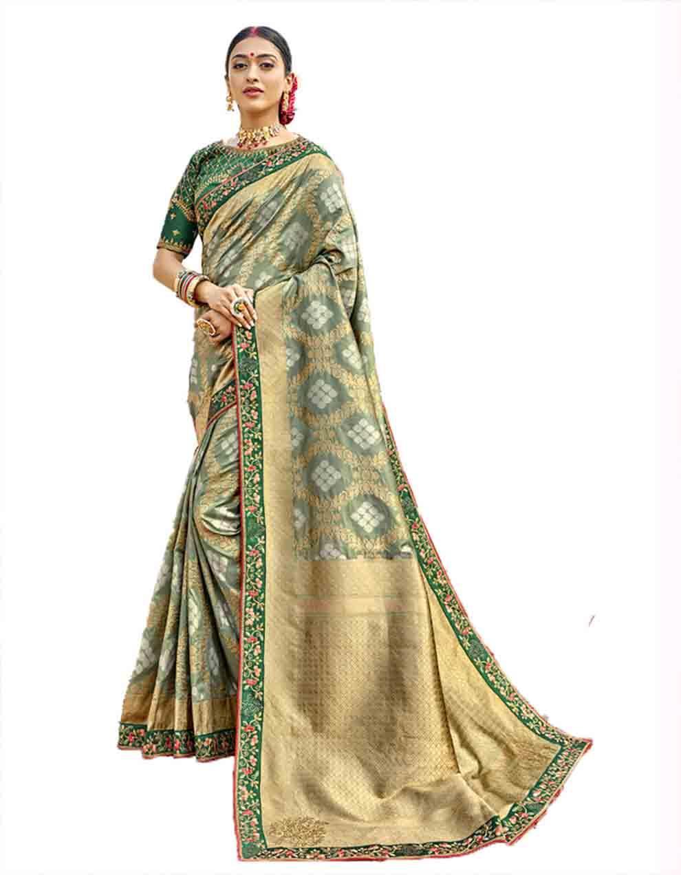 Multicolor Silk Saree With Blouse SD23767