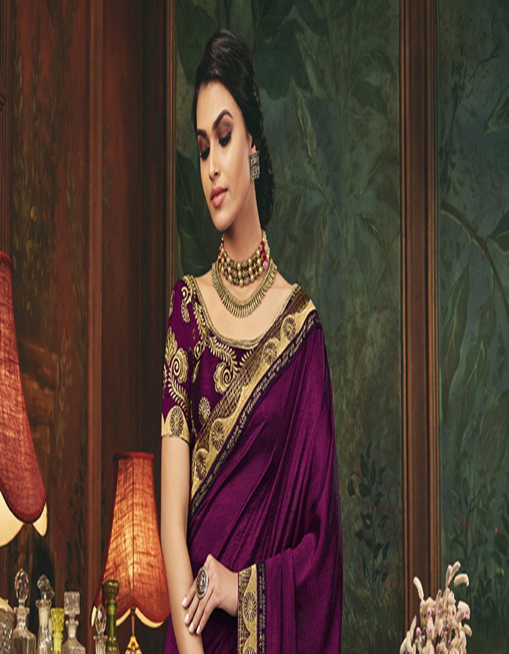 Multicolor Silk Saree With Blouse SD24073