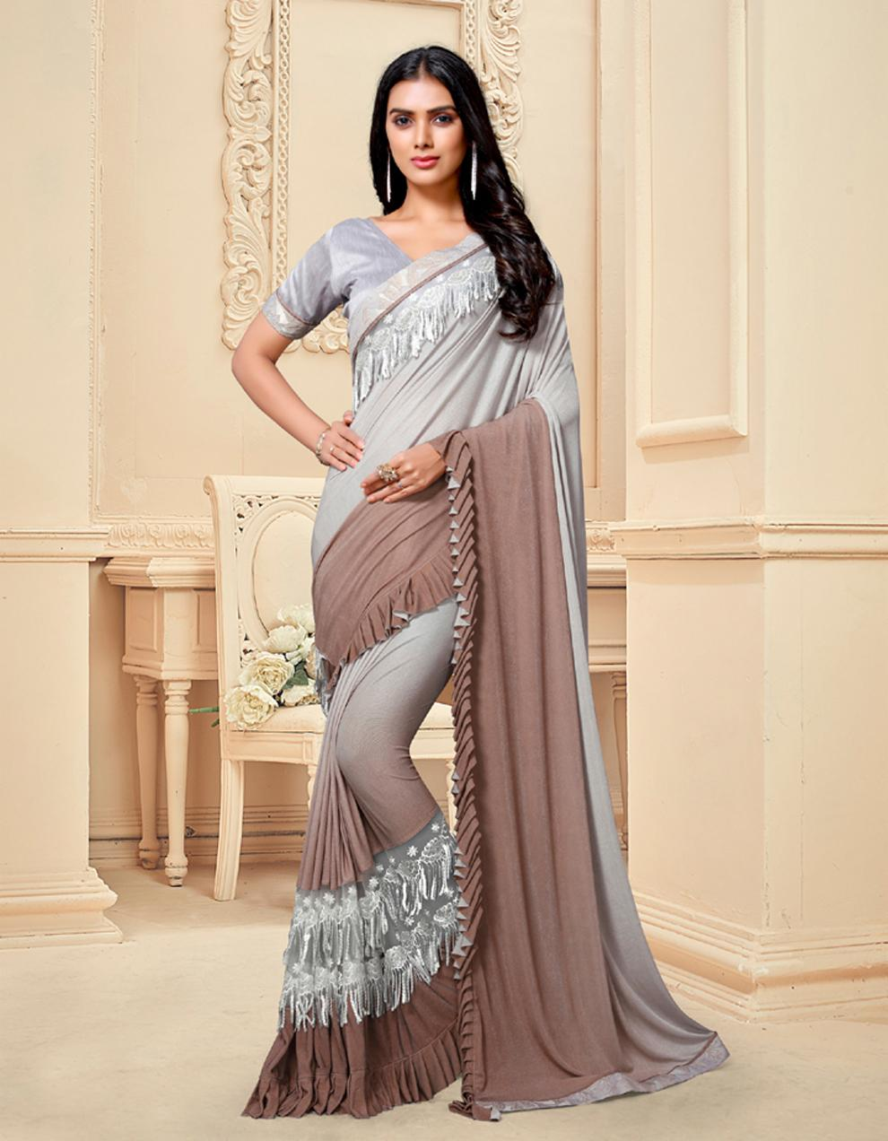 Multicolor Silk Saree With Blouse SD25170
