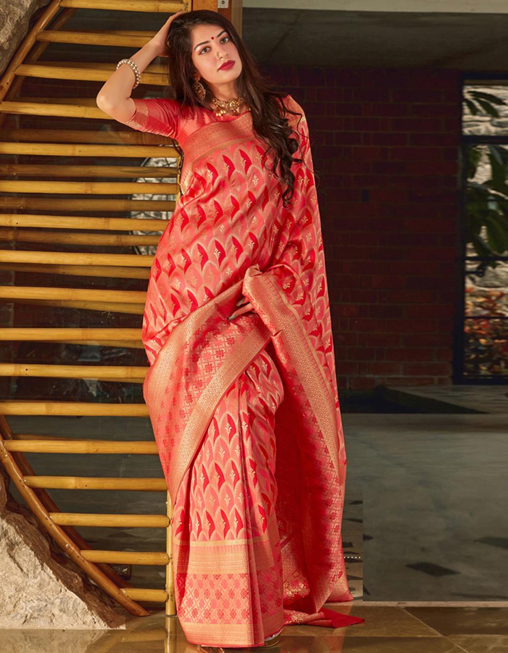 Multicolor Banarasi Silk Saree With Blouse SD24148
